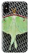 Mint Green Luna Moth IPhone Case