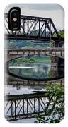 Mirrored Bridges IPhone Case