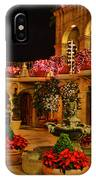 Mission Inn Christmas Chapel Courtyard IPhone Case