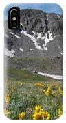 Missouri Mountain And Wildflower Landscape IPhone Case