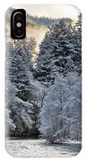 Mist And Snow On Trees IPhone Case