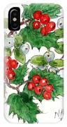 Mistletoe And Holly Wreath IPhone Case
