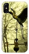 Misty Egret - Gold IPhone Case