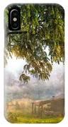 Misty Mountain Barn IPhone Case