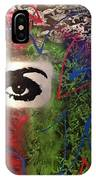 Mixed Media Abstract Post Modern Art By Alfredo Garcia Eye See You 2 IPhone X Case