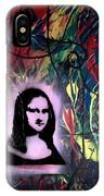 Mixed Media Abstract Post Modern Art By Alfredo Garcia Mona Lisa 2 IPhone X Case