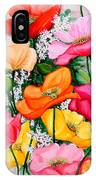 Mixed Poppies IPhone Case
