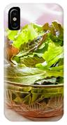 Mixed Salad On Table IPhone Case