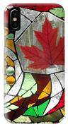 Mosaic  Stained Glass - Canadian Maple Leaf IPhone Case