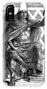 Moctezuma II, Ninth Tlatoani, Aztec IPhone Case