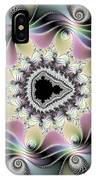 Modern Abstract Fractal Art Metallic Colors Square Format IPhone Case