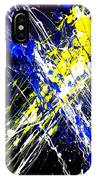 Modern Abstract Painting Original Canvas Art Atoms By Zee Clark IPhone Case