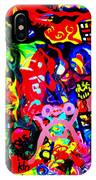 Modern Abstract Painting Original Canvas Art Young Life By Zee Clark IPhone Case