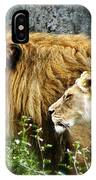 Mom And Pop Lion IPhone Case