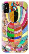 Mom Hugs Baby Crystal Stone Collage Layered In Small And Medium Sizes Variety Of Shades And Tones Fr IPhone Case