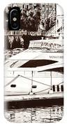 Momousse Yacht In Montreal IPhone Case