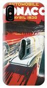 Monaco Grand Prix Vintage Poster IPhone Case