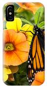 Monarch Among The Flowers IPhone Case
