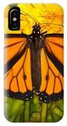 Monarch Batik IPhone Case