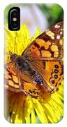 Monarch Butterfly Feeding On A Yellow Dandelion Flower IPhone Case