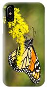 Monarch Butterfly On Goldenrod IPhone Case
