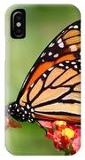 Monarch Butterfly On Lantana Flowers IPhone Case