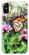 Monarch Butterfly On Pink Lantana IPhone Case