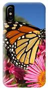 Monarch On Pink Asters IPhone Case