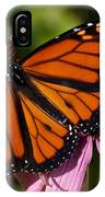 Monarch On Purple Coneflower IPhone Case