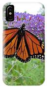 Monarch Under Flowers IPhone Case