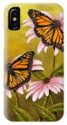 Monarchs And Coneflower IPhone Case