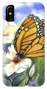 Monarchs In The Gardens IPhone Case