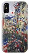 Monet: Montorgeuil, 1878 IPhone Case