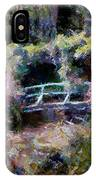 Monet's Bridge In Autumn IPhone Case