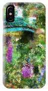 Monet's Bridge In Spring IPhone Case
