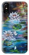 Monet's Pond With Lotus 11 IPhone Case