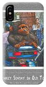 Monkey Sunday In Old Town IPhone Case