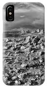 Mono Lake Tufa Rocky Beach Black And White IPhone Case
