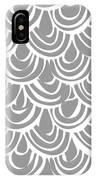 Monochrome Scallop Scales IPhone Case