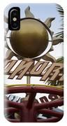 Monorail Signage Disneyland IPhone Case