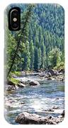 Montana River And Trees IPhone Case