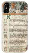 Month Of December, Anglo-saxon Calendar IPhone Case