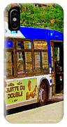 Montreal Bus Scenes Catching The 97 Bus Pontiac Corner Mont Royal Urban Montreal Art Carole Spandau IPhone Case