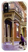 Montreal Memories Pretty Plateau Porches Lady Climbs Front Steps By Bricks Balconies Home Cspandau   IPhone Case