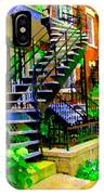 Montreal Staircases Verdun Stairs Duplex Flower Gardens Summer City Scenes Carole Spandau IPhone Case
