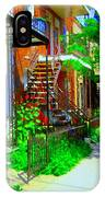 Montreal Stairs Shady Streets Winding Staircases In Balconville Art Of Verdun Scenes Carole Spandau IPhone Case