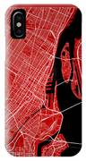 Montreal Street Map - Montreal Canada Road Map Art On Color IPhone Case