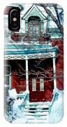 Montreal The Esplanade In Winter IPhone Case