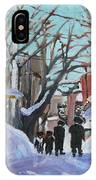 Montreal Winter Mile End Shabbat IPhone Case