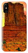 Monument Valley Right Mitten Sunrise Painting IPhone Case